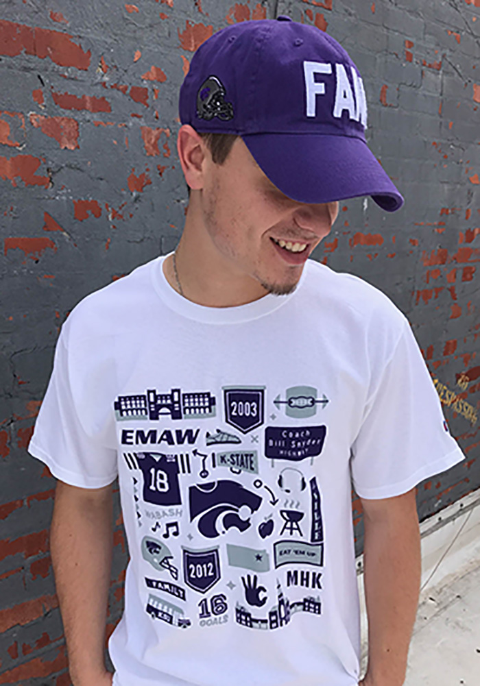 Champion K-State Wildcats White Official Fan Tee - Image 3