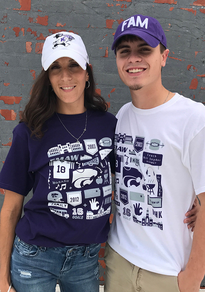 Champion K-State Wildcats White Official Fan Tee - Image 4