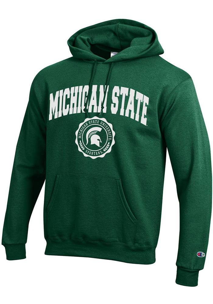 Champion Michigan State Spartans Green Official Seal Hoodie