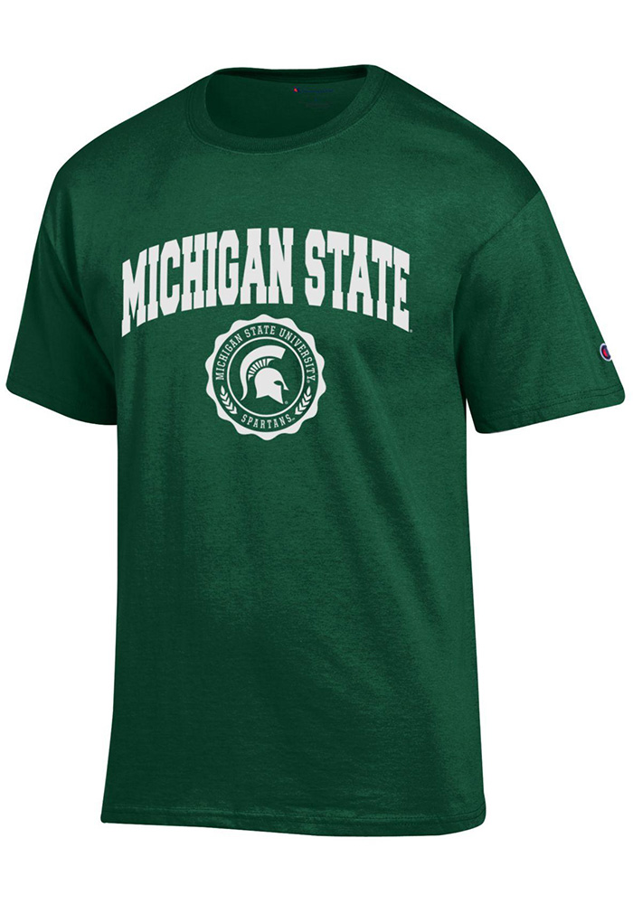 Champion Michigan State Spartans Green Official Seal Short Sleeve T Shirt - Image 1