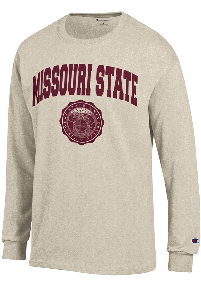 Champion Missouri State Bears Oatmeal Official Seal Long Sleeve T Shirt - Image 1