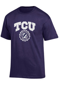 Champion TCU Horned Frogs Purple Official Seal Tee