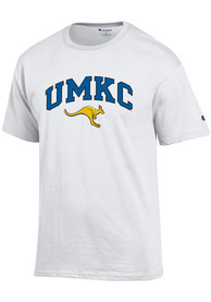 UMKC Roos Champion Arch Mascot T Shirt - White