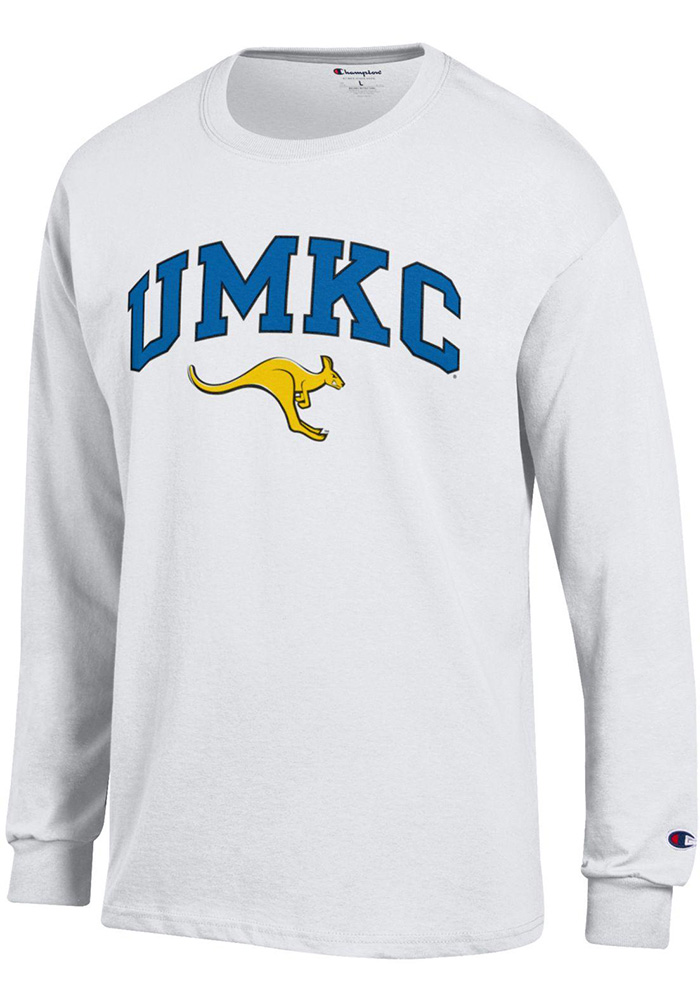Champion UMKC Roos White Arch Mascot Long Sleeve T Shirt - Image 1