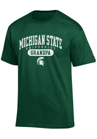 Champion Michigan State Spartans Green Grandpa Tee