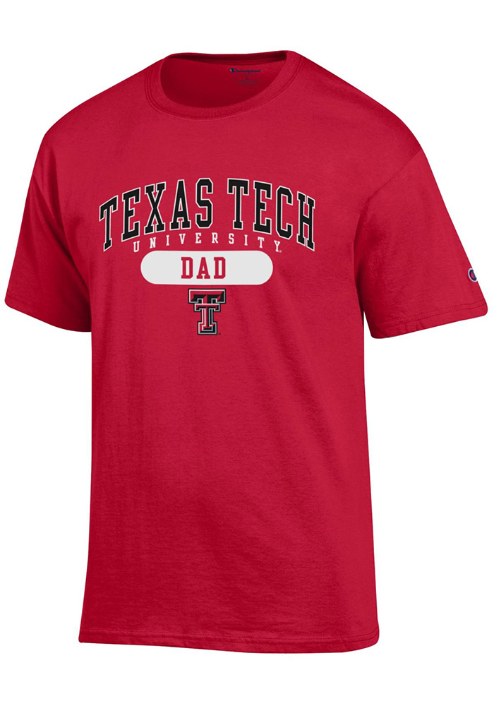 Champion Texas Tech Red Raiders Red Dad Short Sleeve T Shirt - Image 1