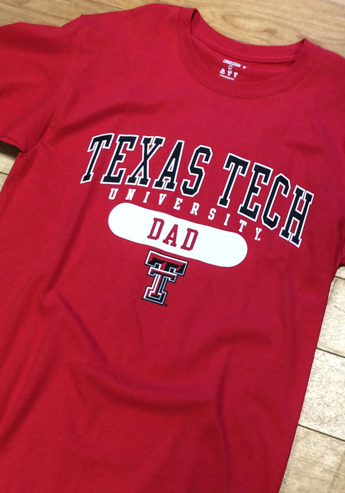 Champion Texas Tech Red Raiders Red Dad Short Sleeve T Shirt - Image 2