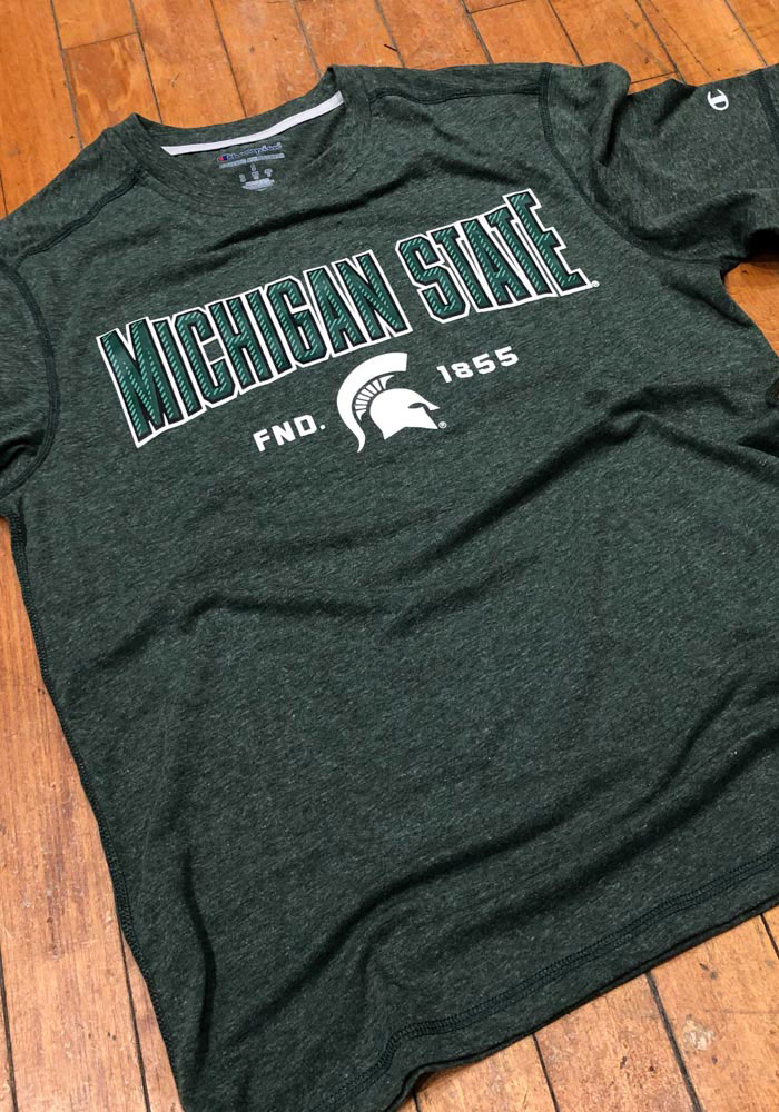 Champion Michigan State Spartans Green Touchback Short Sleeve T Shirt - Image 2