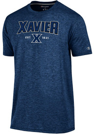 Xavier Musketeers Champion Touchback T Shirt - Navy Blue