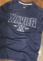 Champion Xavier Musketeers Navy Blue Touchback Short Sleeve T Shirt