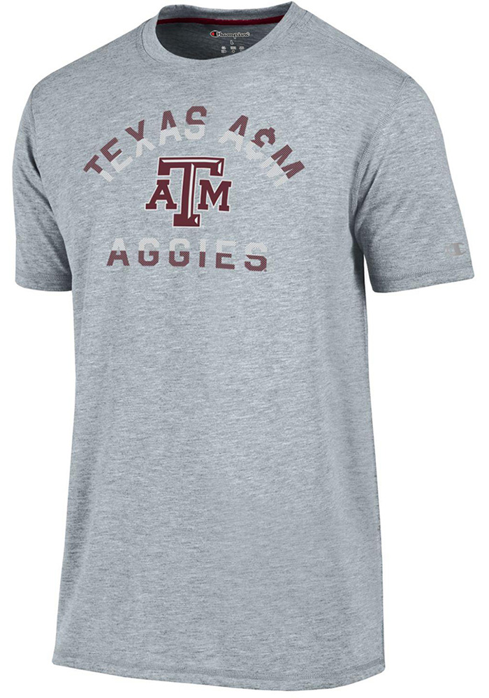 Champion Texas A&M Aggies Grey Touchback Short Sleeve T Shirt - Image 1