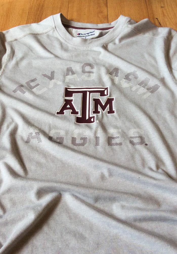 Champion Texas A&M Aggies Grey Touchback Short Sleeve T Shirt - Image 2