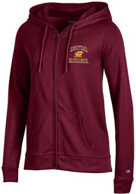 Central Michigan Chippewas Womens Champion University Fleece Full Zip Jacket - Maroon