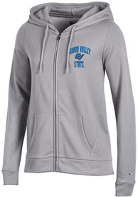 Grand Valley State Lakers Womens Champion University Fleece Full Zip Jacket - Grey