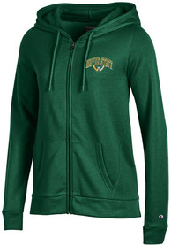 Wayne State Warriors Womens Champion University Fleece Full Zip Jacket - Green