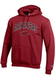 Arkansas Razorbacks Champion Arch Mascot Hooded Sweatshirt - Cardinal