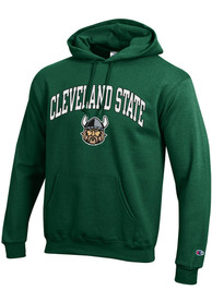 Cleveland State Vikings Champion Arch Mascot Hooded Sweatshirt - Green