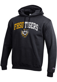 Fort Hays State Tigers Champion Arch Mascot Hooded Sweatshirt - Black