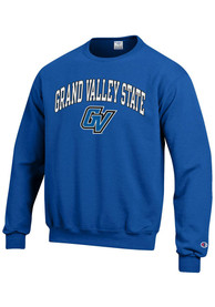 Grand Valley State Lakers Champion Arch Mascot Crew Sweatshirt - Blue