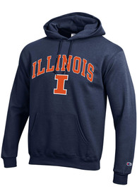 Illinois Fighting Illini Champion Arch Mascot Hooded Sweatshirt - Navy Blue