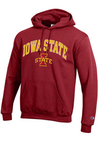 Iowa State Cyclones Champion Arch Mascot Hooded Sweatshirt - Cardinal