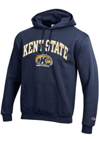 Kent State Golden Flashes Champion Arch Mascot Hooded Sweatshirt - Navy Blue