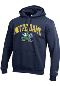 Notre Dame Fighting Irish Champion Arch Mascot Hooded Sweatshirt - Navy Blue