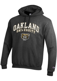 Oakland University Golden Grizzlies Champion Arch Mascot Hooded Sweatshirt - Grey