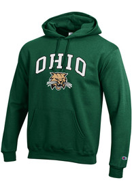 Ohio Bobcats Champion Arch Mascot Hooded Sweatshirt - Green