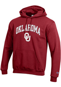 Oklahoma Sooners Champion Arch Mascot Hooded Sweatshirt - Crimson