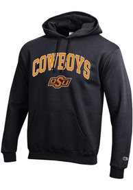 Oklahoma State Cowboys Champion Arch Mascot Hooded Sweatshirt - Black