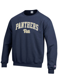 Pitt Panthers Champion Arch Mascot Crew Sweatshirt - Navy Blue