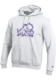 TCU Horned Frogs Champion Big Logo Hooded Sweatshirt - White