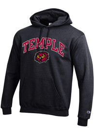 Temple Owls Champion Arch Mascot Hooded Sweatshirt - Black