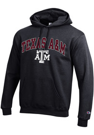 Texas A&M Aggies Champion Arch Mascot Hooded Sweatshirt - Black