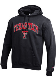 Texas Tech Red Raiders Champion Arch Mascot Hooded Sweatshirt - Black