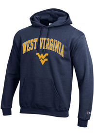 West Virginia Mountaineers Champion Arch Mascot Hooded Sweatshirt - Navy Blue
