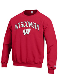 a0da4f95 Champion Wisconsin Badgers Red Arch Mascot Sweatshirt