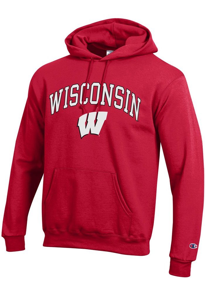 Wisconsin Badgers Champion Arch Mascot Hooded Sweatshirt - Red