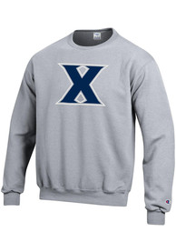 Xavier Musketeers Champion Big Logo Crew Sweatshirt - Grey