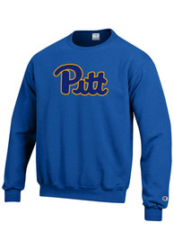 Pitt Panthers Champion Arch Crew Sweatshirt - Blue