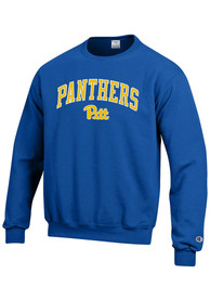 Pitt Panthers Champion Arch Mascot Crew Sweatshirt - Blue