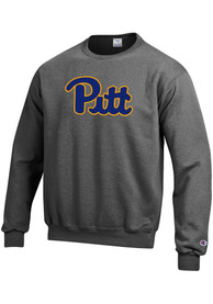 Pitt Panthers Champion Logo Crew Sweatshirt - Grey