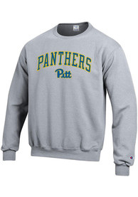 Pitt Panthers Champion Arch Mascot Crew Sweatshirt - Grey