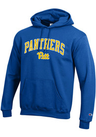 Pitt Panthers Champion Arch Mascot Hooded Sweatshirt - Blue