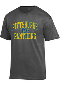 Pitt Panthers Champion Number One T Shirt - Grey