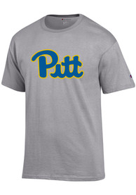 Pitt Panthers Champion Primary T Shirt - Grey