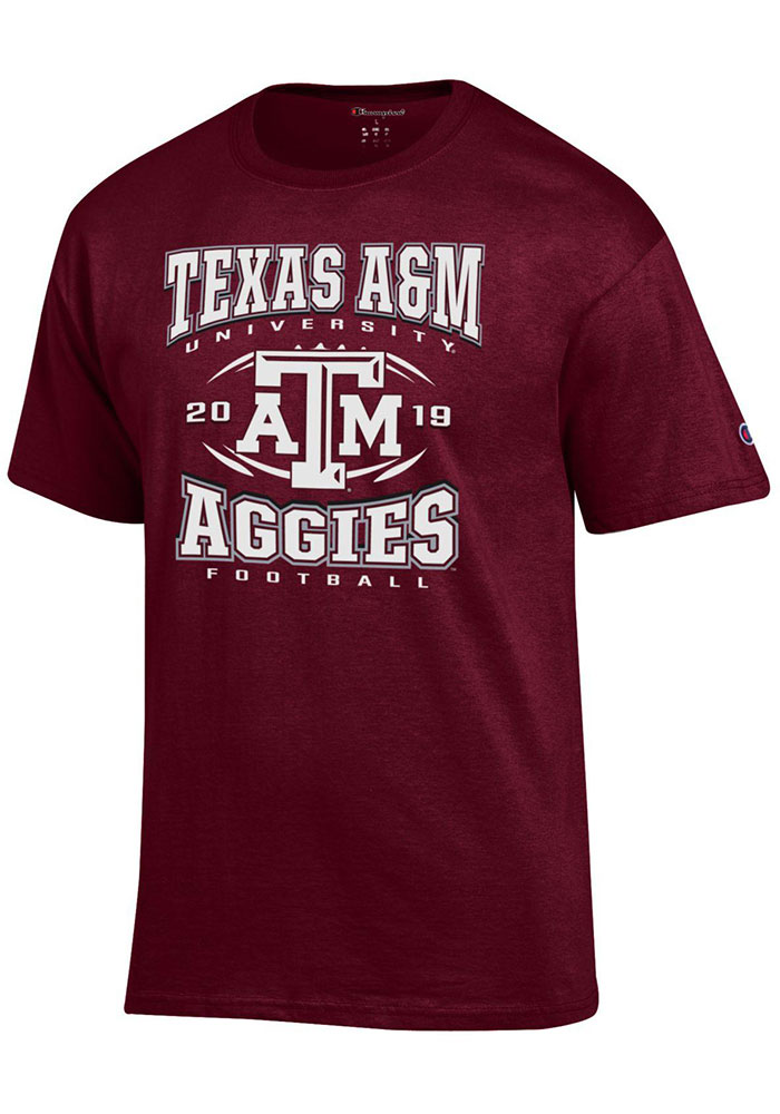 Texas A&M Aggies Champion Football Schedule T Shirt - Maroon