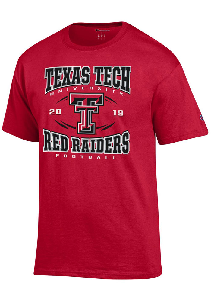 Texas Tech Red Raiders Champion Football Schedule T Shirt - Red