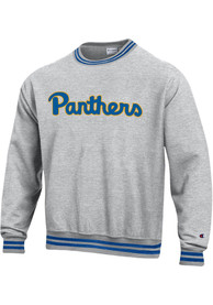 Pitt Panthers Champion Reverse Weave Arch Crew Sweatshirt - Grey